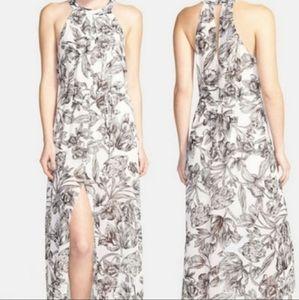 ASTR | Sketched Floral High Neck Maxi Dress